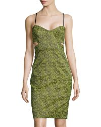 Jonathan Simkhai Cutout Space-Dyed Bustier Dress - Lyst