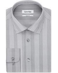 Calvin Klein Flamingo Check Dress Shirt - Lyst
