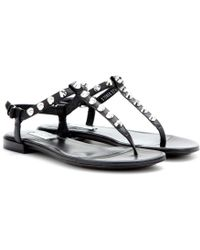 Balenciaga Giant Studded Leather Sandals - Lyst