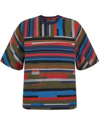 House of Holland | Bloc Woven Tee | Lyst
