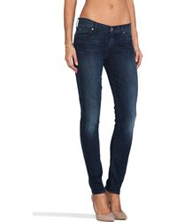 7 For All Mankind The Skinny in Dark Cobalt Blue - Lyst