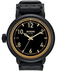 Nixon October Matt Black Orange Tint Watch - Lyst
