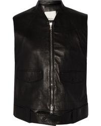 3.1 Phillip Lim - Leather Biker Vest - Lyst