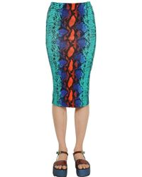 House of Holland Printed Viscose Jersey Pencil Skirt - Lyst