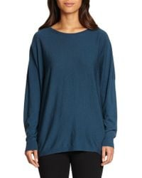 Lafayette 148 New York Ribbedback Wool Sweater - Lyst