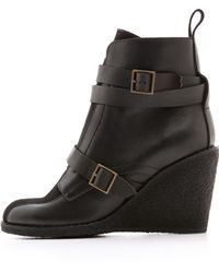 See By Chloé Wedge Booties Neronero - Lyst