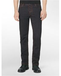 Calvin Klein Slim Straight Colored Overdye Jeans - Lyst