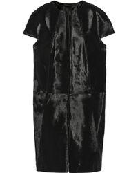 Vera Wang Calf Hair Coat - Lyst