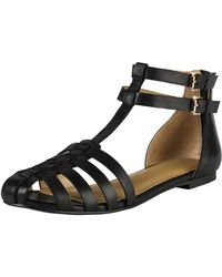 Cole Haan Ivy Leather Huarache Sandal - Lyst