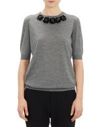 Marni Bejeweled Short-sleeve Sweater - Lyst