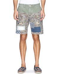 Scotch & Soda Patchwork Cotton Chino Shorts - Lyst