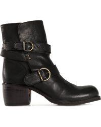 Fiorentini + Baker 'Moky' Buckled Boots black - Lyst