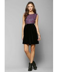 Urban Outfitters Urban Renewal Velvet Bow Dress - Lyst