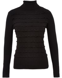 Cc Petite Wave Stitch Roll Neck Jumper - Lyst