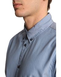 Marc By Marc Jacobs Oxford Blue Shirt With Contrasting Buttons - Lyst