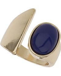 TOPSHOP - Womens Opaque Blue Stone Ring  Blue - Lyst
