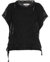 Etoile Isabel Marant Duffy Cotton And Crochet Tunic Top - Lyst