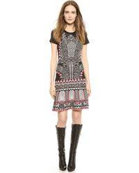Temperley London Kieta Fitted Dress - Black Mix - Lyst