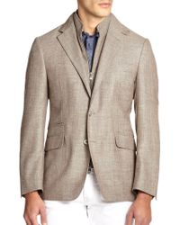 Corneliani Id Zip-Out Vested Sportcoat - Lyst