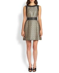 RED Valentino Floral Brocade Fitandflare Dress - Lyst