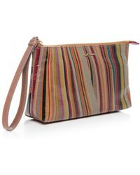 Paul Smith Gloss Swirl Print Clutch Bag - Lyst