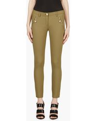 Versus  Olive Safety Pin Trousers - Lyst