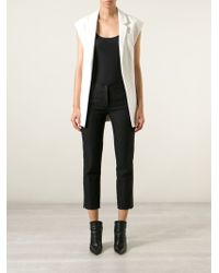 Ann Demeulemeester Cropped Slim Fit Trousers - Lyst