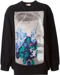 MSGM Graphic Print Sweatshirt - Lyst