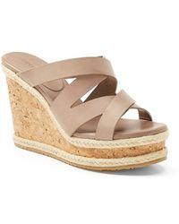 Jimmy Choo Women'S 'Prisma' Leather Wedge Sandal - Lyst