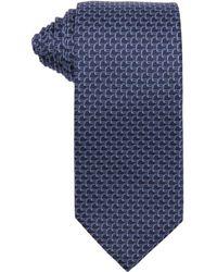 Gucci Blue Spur Pattern Silk Tie - Lyst