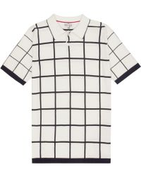 Reiss Baltimore Grid Check Polo Shirt - Lyst