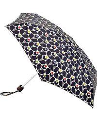 Orla Kiely - Tiny Wallflower Print Folding Umbrella - Lyst