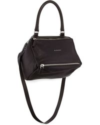 Givenchy Pandora Sugar Small Leather Shoulder Bag black - Lyst