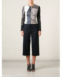 Yigal Azrouel Cropped Wide Leg Trousers - Lyst