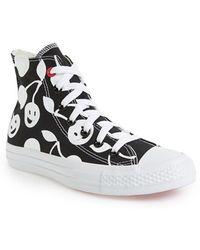 Converse Women'S Chuck Taylor Cherry Print High Top Sneaker - Lyst