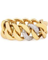Rina Limor - 18k Yellow Gold Stretch-link Bracelet With Pavé Diamonds - Lyst