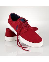 Polo Ralph Lauren Canvas Faxon Low Sneaker - Lyst