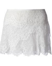 Isabel Marant Floral Lace Mini Skirt - Lyst