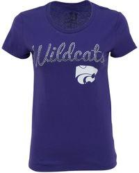 MYU Apparel - Women's Short-sleeve Kansas State Wildcats Sequin T-shirt - Lyst