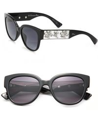 Dior | 54mm Oval Crystal-embellished Optyl Sunglasses | Lyst
