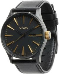 Nixon The Sentry Leather - Lyst