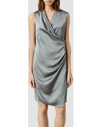 AllSaints Arina Dress gray - Lyst