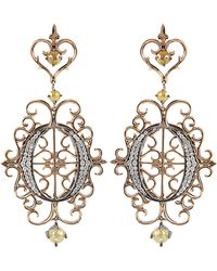 Bochic - O Logo Pave Earrings - Lyst
