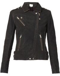 Iro Jay Distressed Leather Biker Jacket - Lyst