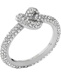 Michael Kors Pave Glass Knot Ring - Lyst