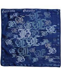 John Galliano Blue Square Scarf - Lyst