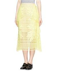 Erdem 'Ama' Greenhouse Guipure Lace Skirt - Lyst