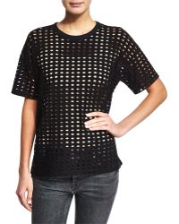 T By Alexander Wang | Perforated T-shirt | Lyst