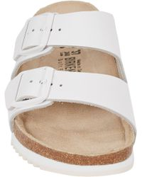 Birkenstock White Arizona Sandals - Lyst