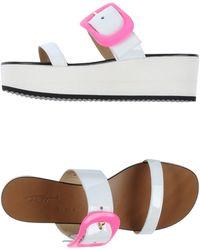 Vicini Tapeet White Sandals - Lyst